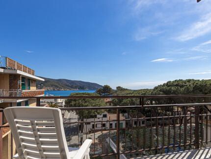 Chiara Urlaub Wohnung auf der Insel Elba, Meerblick von die Terrasse