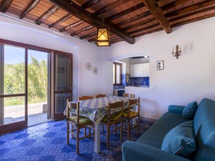 Appartamento Il PinoProcchiosoggiorno con divano e cucina_1