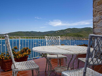 Terrazza sul Mare, holiday villa on Elba Island, Terrace