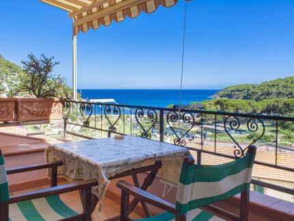Il Nido holiday apartment on Elba Island, balcony with seaview