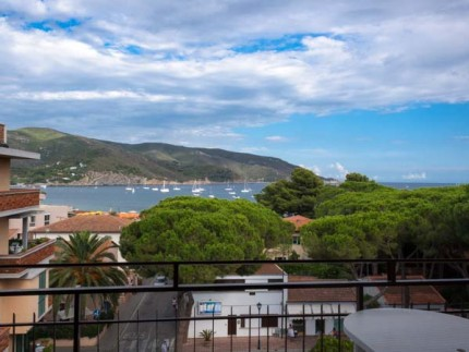 Chiara holiday apartment on Elba Island, seaview from the terrace