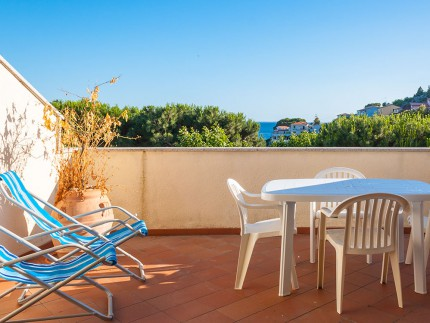 Ballavista, holiday apartment on Elba Island, terrace