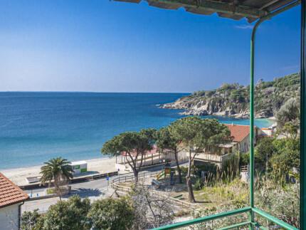 Gabriella, holiday accomodation on Elba Island, view from the beach